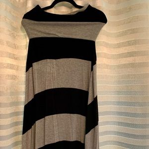Black and Silver Stripe GAP Reversible Dress/Skirt